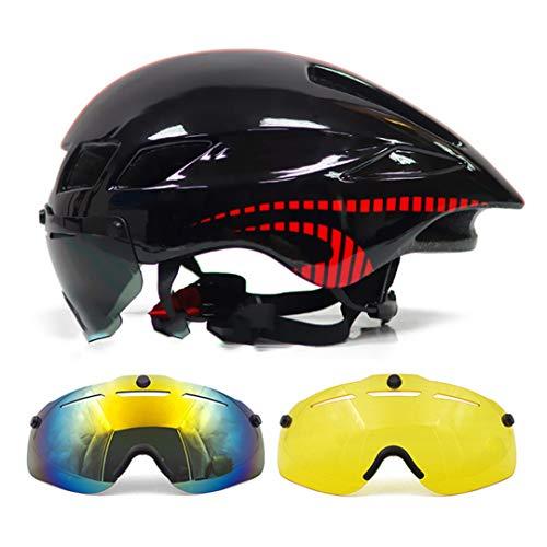 Casco de Ciclismo Lente Magnética Gafas de montaña Carretera neumática Bicicleta Bicicleta triatlón Bicicleta color3 with 3 Lens L