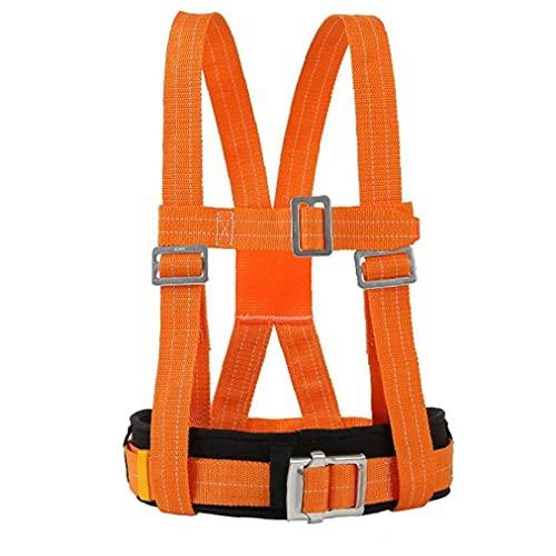 Eaarliyam Escalada Kits arnés Ajustable del Consejo de Medio cinturón de Seguridad del arnés de detención de caídas de montañismo al Aire Libre Anaranjada