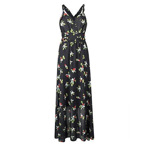 Vestido de Mujer Vestido Largo con Estampado Floral Vestido Bohemio Vestido Largo de túnica Vestido de Fiesta de Noche p