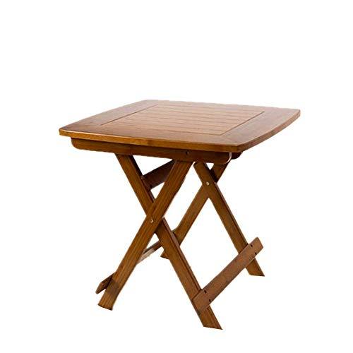 Holz Klapptisch | Platzsparender Beistelltisch Für Terrasse Und Balkon | Kleiner Gartentisch Bambus Umweltschutz -Dreieckige Stabile Struktur,Stylisch Und Langlebig,Table,60x60x59cm