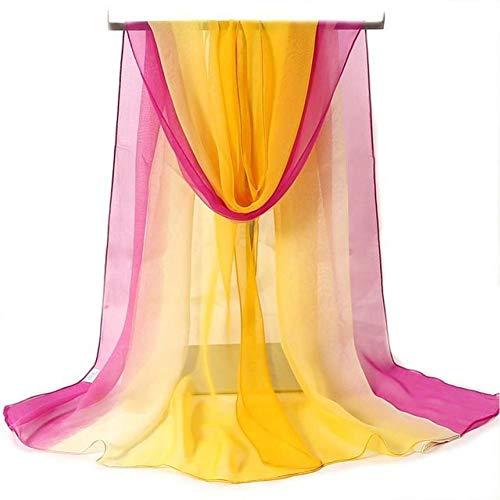 QueenJ Foulard En Soie Pour Femme Foulard En Soie Georgette Écharpe Sauvage À Section Mince Écharpe Multicolore
