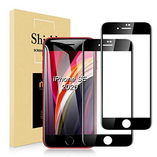 AUCHIKU Panzerglas Schutzfolie kompatibel mit iPhone SE 2020 / iPhone 7 / iPhone 8[2 Stück], 9H Festigkeit, Anti-Fingerprint, Anti-Kratzen, Anti-Öl, Anti-Bläschen, HD Klar Bildschirmschutzfolie für iPhone SE