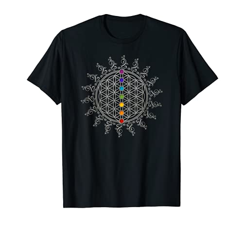 Blume des Lebens, Chakra, Sacred Geometry, Flower of Life T-Shirt