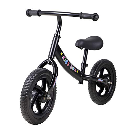 12' Balance Bike Carbon Steel Frame No Pedal Training Bicycle for Kids 2-6...