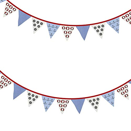 6ft Nautical Anchor Fabric Bunting Garland Seaside Nautical Accessory