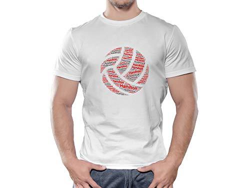 Hamilton Academical FC Novelty Football Ball T Shirt, (Medium)
