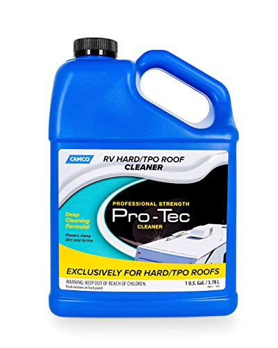 Camco Pro-Tec Cleaner for Specially Formatted TPO Deep Cleansing Formula Rids Dirt and Grime and Helps to Extend The Life of Your RV's Roof (41069)