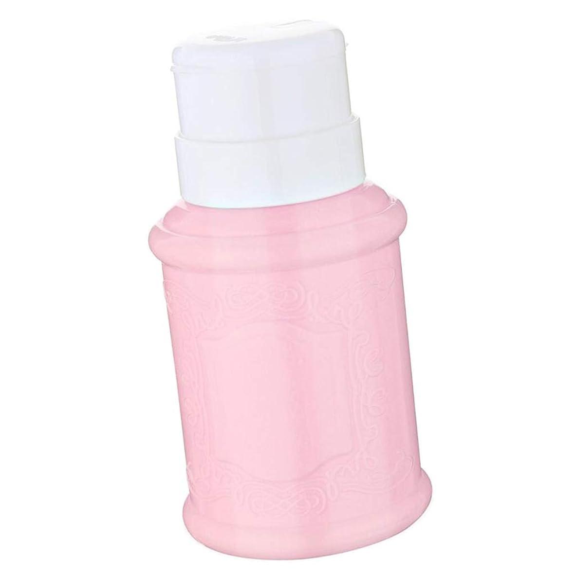 悲惨杭図書館Perfeclan 空ポンプボトル クリアポンプ ネイルクリーナーボトル ポンプディスペンサー ジェルクリーナー 全3色 - ピンク
