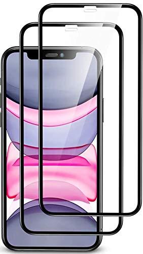 UNO' Protector pantalla 2 Unidades, Protector pantalla cristal templado compatible con iphone 11, Vidrio Templado Ultra Resistent Sin Burbujas, 9H, Antiarañazos, Apto Para Iphone 11 y Iphone XR.