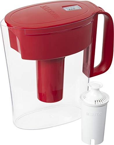 Brita Metro Pitcher with 1 Filter, 5 Cup, Red