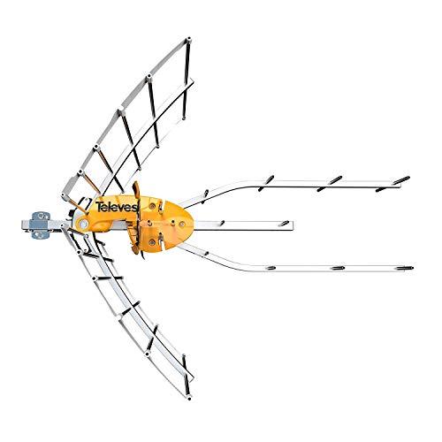 Televes Antena + Fuente de Alimentacion Televes Ellipse UHF con Previo 148922. Preparada para El 5G Canales 21 Al 48