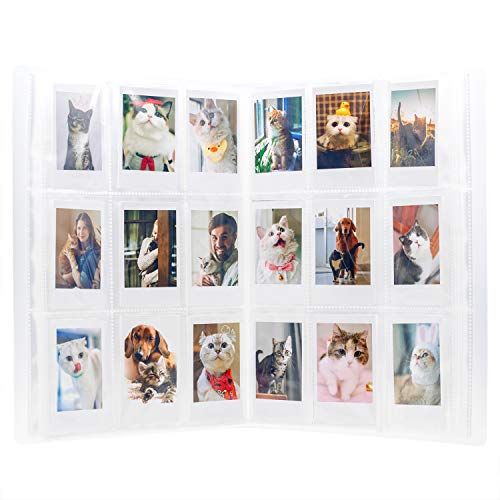 Amimy 288 Pockets álbum de Fotos para Fujifilm Instax Mini 7s 8 8+ 9 25 50 70 90, Polaroid Snap PIC-300, HP Piñón, Kodak Mini 3 Pulgadas Film (Transparente)