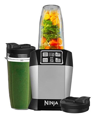 Ninja Auto-iQ Nutri Ninja Blender, Platinum | BL480 (Renewed)