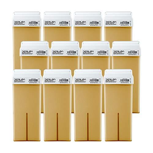 12 x Cera depilatoria Roll On cartuchos de 100ml Miel | Pack 12 x Roll-on Cera para depilación