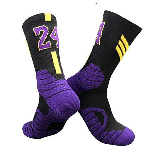 Byrhgood 3 Pares Professional Super Star Basketball Socks Elite Gruesos Calcetines Deportivos Antideslizante Durable Skateboard Toalla de Calcetines de la Parte Inferior de los Calcetines
