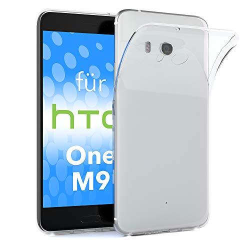 EAZY CASE HTC One M9 (Prime Camera Edition) Schutzhülle Silikon, Ultra dünn, Slimcover, Handyhülle, Silikonhülle, Backcover, Transparent/Durchsichtig, Transparent