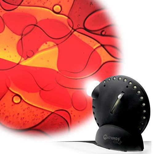 Mathmos Space Projector Noir avec Disque à Huile - Jaune/Rouge