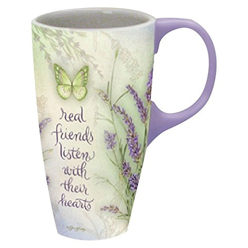 Lang Lavender Latte Mug by Jane Shasky, Multicolored