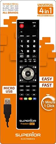 Freedom USB 4in1 Black programmierbare Universalfernbedienung