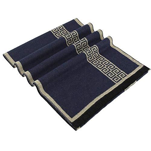 L.J.JZDY sjaals 2019 nieuwe brief merk zakelijke heren sjaal zijde kasjmier sjaal sjaal winter warme sjaals mannen 180 * 30 Cm sjaal voor mannen