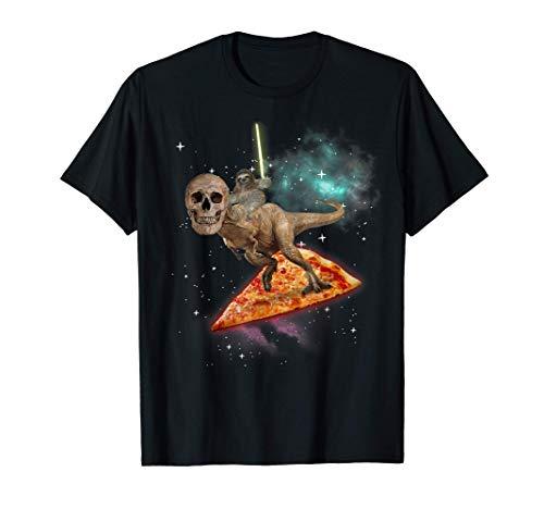 Awesome Skull Dino Sloth Saber Pizza Camiseta