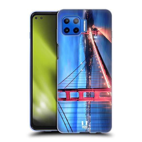 Head Case Designs Golden Gate Bridge San Francisco Best of Places Set 3 Soft Gel Case and Matching Wallpaper Compatible with Motorola Moto G 5G Plus