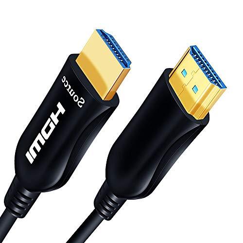 Shuliancable aktives Glasfaser HDMI Kabel, HDMI Kabel unterstützt 4K 60Hz, YUV4:4:4,3D, HDR, HDCP 2.2,für Beamer, PS4, PC, Soundbar usw, 5m10m 15m 20m 30m 50m (10m)