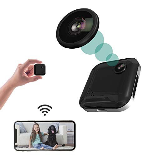 Spy Camera Mini Hidden Camera 1080P Wireless Spy Cam Portable WiFi Nanny Cam with Night Vision, Motion Detection, Security Surveillance Cameras Audio & Video Recording for Live Remote View