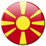 Kühlschrankmagnet Mazedonien Flaggen Magnet Länder Reise Souvenir Flagge für Kühlschrank stark groß 50 mm