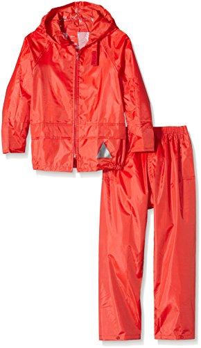 Result Junior Waterproof Jacket & Trouser Set, Pantalon De Pluie Garçon, Rouge (Red), Medium