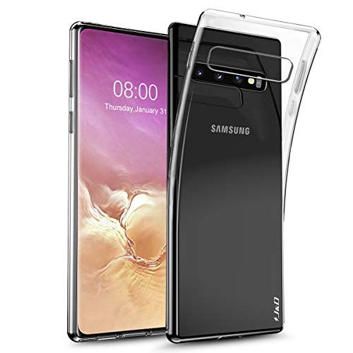 J&D Kompatibel für Galaxy S10 Plus/Galaxy S10+ Hülle, [Ultra Dünn] [Leichtgewichtig] Ultra-Durchsichtig Stoßfest Silikon Stoßschutzhülle für Samsung Galaxy S10 Plus Case - [Nicht für S10/S10 5G/S10e]