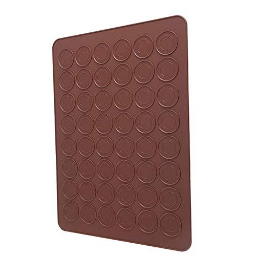 AIKES 48 Löcher Silikonmatte Für Backofen Macaron Silikon Backmatte Antihaft-Back Macaron Kuchen Pad Backformen Gebäck Backenwerkzeuge