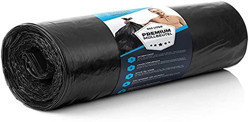 5 ensembles de sacs poubelles 240L ULTRA indéchirable 70 µ - XL professionnels lourds noir ménage & industrie - sacs poubelles - sacs poubelles solides en élimination des déchets LDPE 100 cm x 125 cm