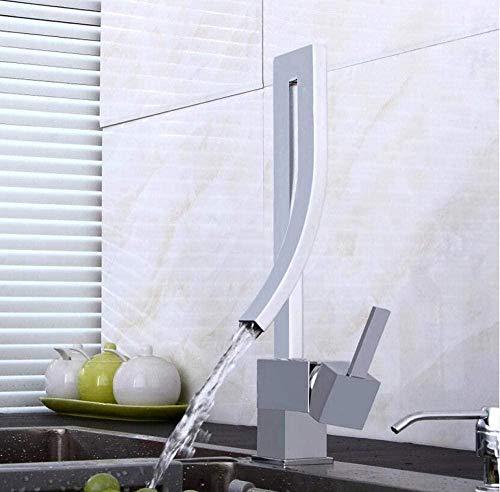 Elegant messing badkamer vierkante waterkraan luxe wastafel mixer tapijt deck gemonteerd hete en koude wastafel mixer waterkraan waterkraan