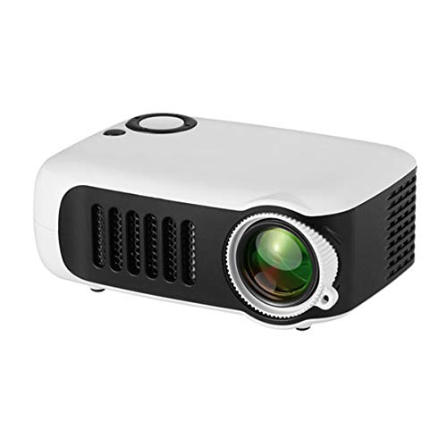 HD-Projector, Mini Video Projector Met Afstandsbediening, Home Theatre-Systeem Media Player, LED Micro Movie Projector Ondersteuning Power Bank, HDMI, USB En SD,White