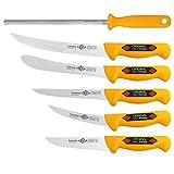 Solingen Juego de 6 cuchillos de trinchar, cuchillo de carnicero, cuchillo de deshuesar, 3328