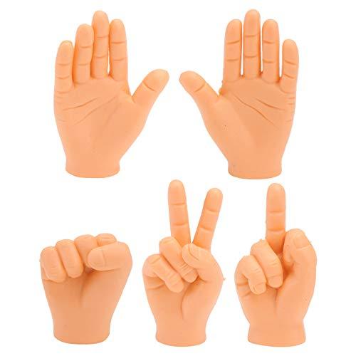 Amosfun 5Pcs Winzige Hand Fingerpuppen Kleine Finger Requisiten Neuheit Mini Puppen Fünf Finger Spielzeug für Spaß Streich Spielzeug Goodie Bag Füller
