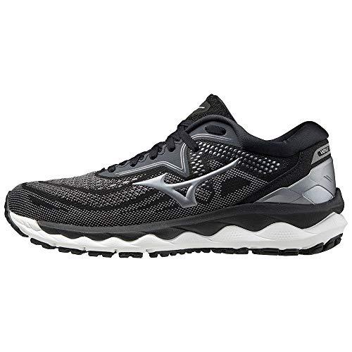 Mizuno Wave Sky 4 (W), Zapatillas de Running Mujer, Black/Quite Shade/CoolSilver, 42 EU
