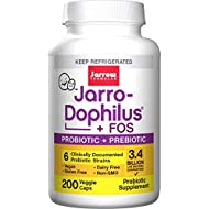 Jarrow Formulas Jarro-dophilus and FOS+E211, for Intestinal and Immunal Support, 3.4 Billion Cells per Capsule, 200 Capsules