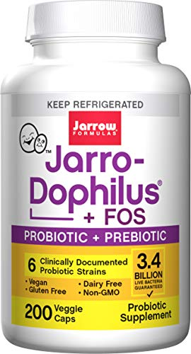 Jarrow Jarro-Dophilus + FOS (3.4 Billion Organisms, 200 Capsules)