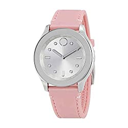 top rated Stainless Steel Ladies Movado Swiss Quartz Watch with Rubber Strap, Pink, 19 (Model: 3600414) 2021