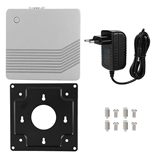Cuque Mai Geschenke Kompaktkörper Industrial Control Mainboard Mini-PC 4-Kern 22(Silver White, European regulations)