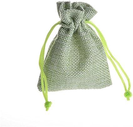 cord/ón Bolsa de Regalo Reutilizable Bolsa de Muselina Fiestas SuperglockT Saquitos de Yute con cord/ón de Lino para Bodas Calendario de adviento