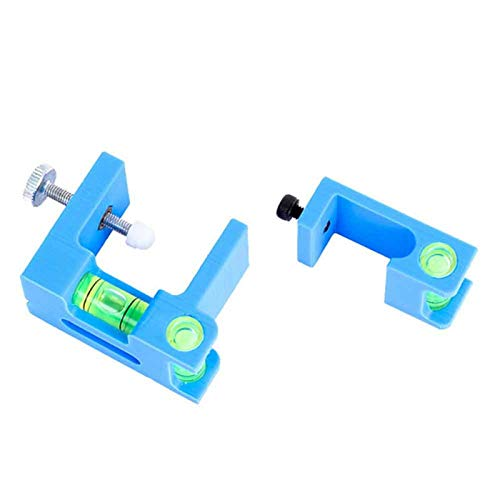 Denpetec Bow Level Positioner Adjustment Tool, 2 Pack Archery Parallel Bow Vice, Bow Release for Compound Bow, Archery Tuning Level, High Accuracy Compound Bow Tuning String Level Combo