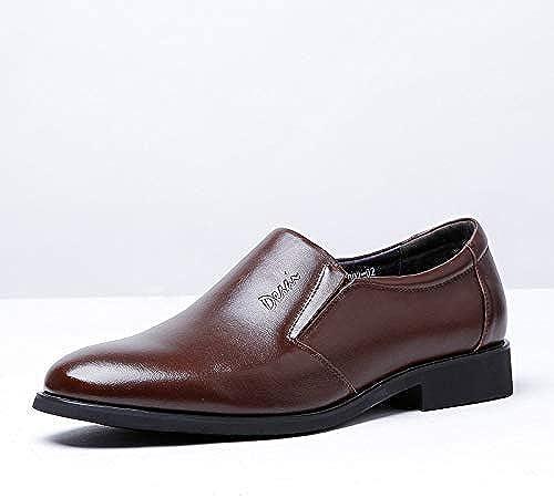 Willsego Chaussures Oxford en Cuir, Style de la Mode Mode décontractée Slip-on Affaires Chaussures habillées en Cuir pour Hommes (Couleur  Brun, Taille  42-EU) (Couleuré   Marron, Taille   38-EU)  bon prix
