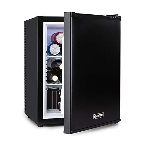 Klarstein Happy Hour - 37 Liter, Minibar, Mini-Kühlschrank, Getränkekühlschrank, Kompression, Kühltemperatur: 5-15 °C, Energieeffizienzklasse C, lautlos: 0 dB, LED-Licht, schwarz