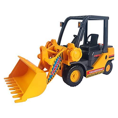 Lihgfw Fallresistent Verdickung Große Musik Bulldozer Gabelstapler Bagger Kinder Trägheit Technik Fahrzeug Spielzeug Auto Modell Kinder Spielzeug (Color : Yellow)
