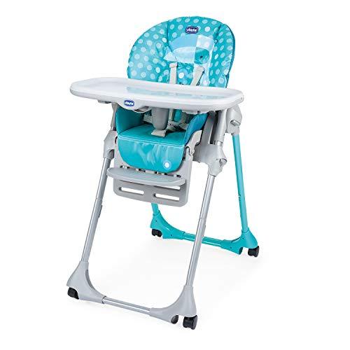 Chicco Polly Easy Chaise Haute Evolutive et Transat pour Bébés, Inclinable avec Hauteur et Repose-Pieds Réglables, 4 roues, Fermeture Compacte - de 6 mois à 3 ans (15 kg) - Tucano