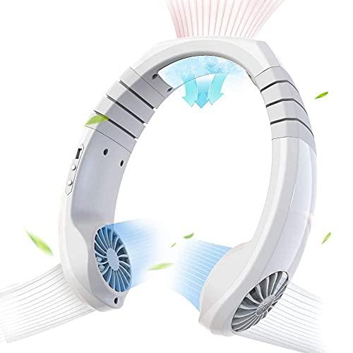Climatizzatore Portatile Radiatori evaporativi Collana Ventilatore, Condizionatore Personale Condizionatore Aria Collo Ventola Radiatore Portatile Smart Cooling Collo Ventola Ricaricabile per Viaggio