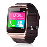 Show time smart wristband: rt Watch Aplus GV18 with NFC Camera Function Bluetooth SIM Card Wristwatch for iPhone6 Android Phone:Gold